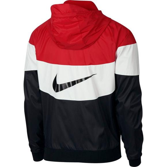 online retailer ddd8e 7e3ff Nike Sportswear Men s Windrunner Jacket - Red Black White - Main Container  Image 7