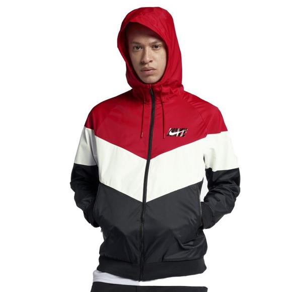 Nike Sportswear Men s Windrunner Jacket - Red Black White - Main Container  Image 1 1b755dcfc