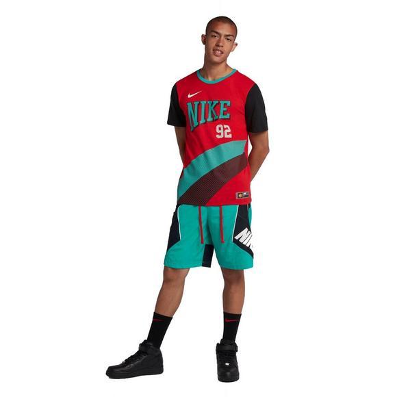 online retailer 6e7fb 9e603 Nike Men s Throwback Basketball Shorts - Teal Black - Main Container Image 2