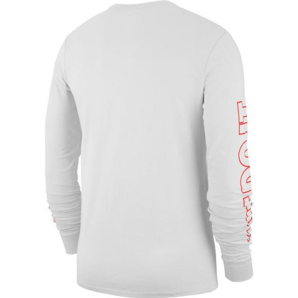 17181c661 Nike Men's Sportswear Long-Sleeve JDI T-Shirt - White/Red - Hibbett US