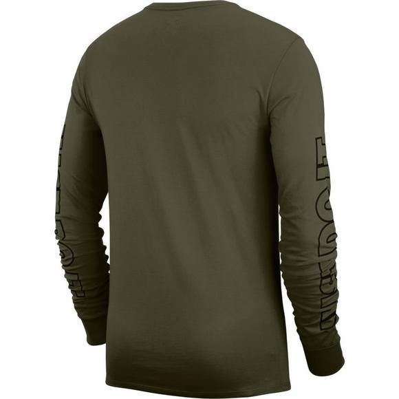 657dbf09242 Nike Men's Sportswear Long-Sleeve JDI T-Shirt - Olive/Black - Hibbett US