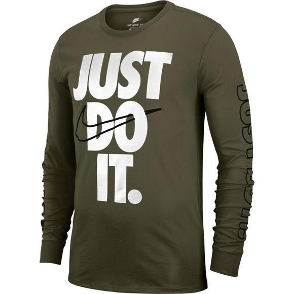 ae90e04a Nike Men's Sportswear Long-Sleeve JDI T-Shirt - Olive/Black - Hibbett US
