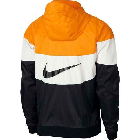 2a6d35985e41 Nike Men s Sportswear Windrunner Jacket-Orange White Black - Main Container  Image 2