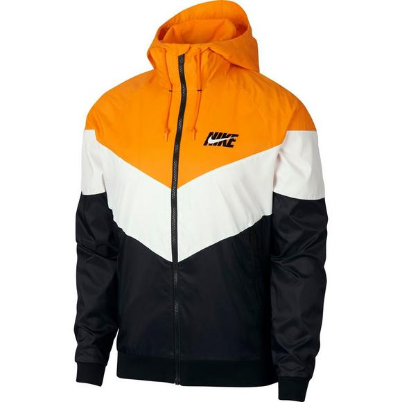 Nike Men s Sportswear Windrunner Jacket-Orange White Black - Main Container  Image 1 13181b221c1b