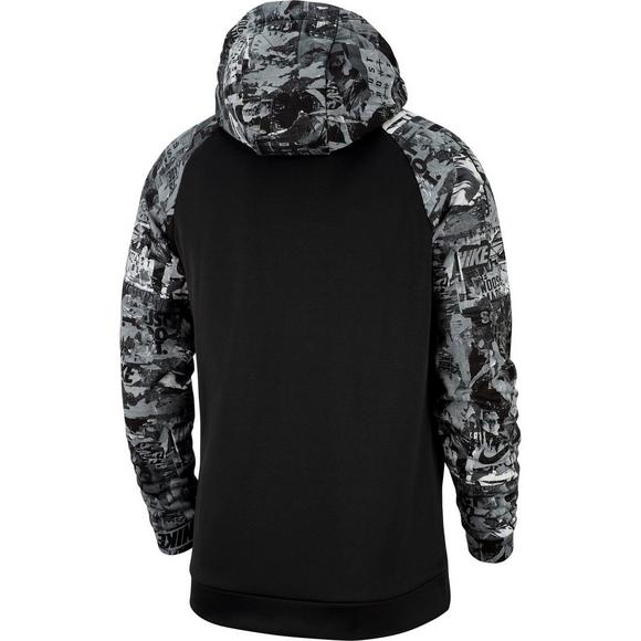 170865fbcd8862 Nike Men s Therma Training Hoodie - Black Grey - Main Container Image 2