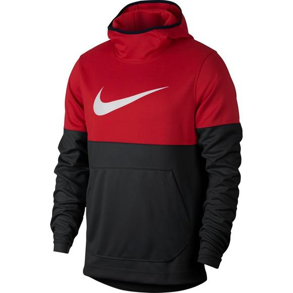 141987eca26f Nike Men s Spotlight Basketball Hoodie - Red Black - Main Container Image 1
