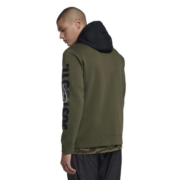 e0734a45a8ab Nike Men s Sportswear Full-Zip Fleece Hoodie-Olive - Main Container Image 2