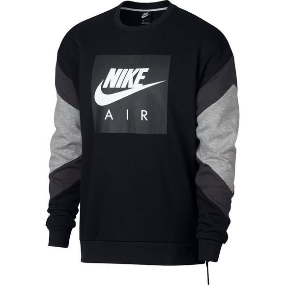 b6fdf812701842 Nike Air Men s Fleece Crew Sweatshirt - Black Grey - Main Container Image 6