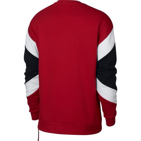 89e3651e5 Nike Air Men's Fleece Crew Sweatshirt - Red/Black - Main Container Image 2