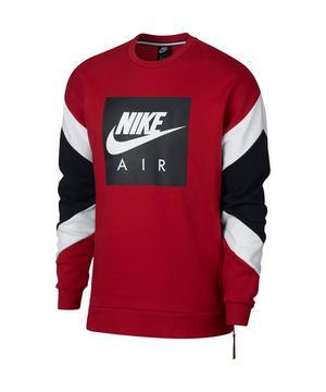 Nike Mens Red Fleece Crew Sweatshirt