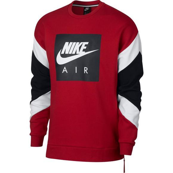 59fc793286da Nike Air Men s Fleece Crew Sweatshirt - Red Black - Main Container Image 1