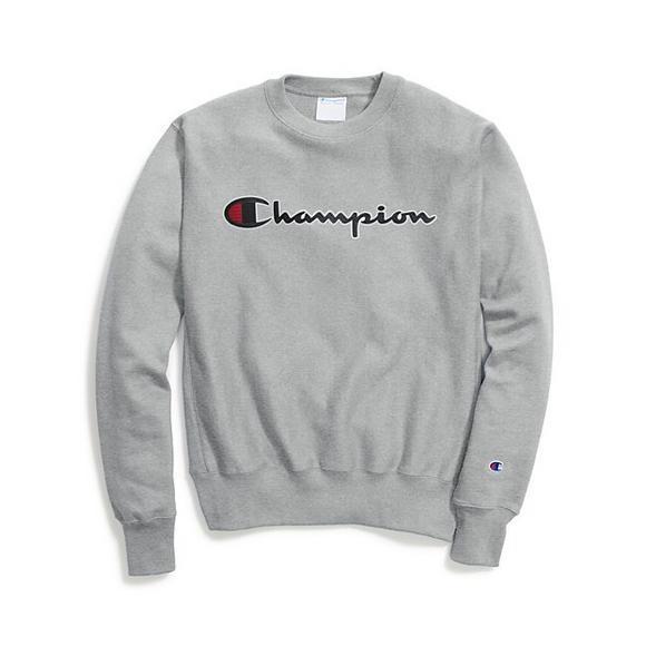 a8784317d8fd Champion Men s Script Crew Sweatshirt - Main Container Image 1
