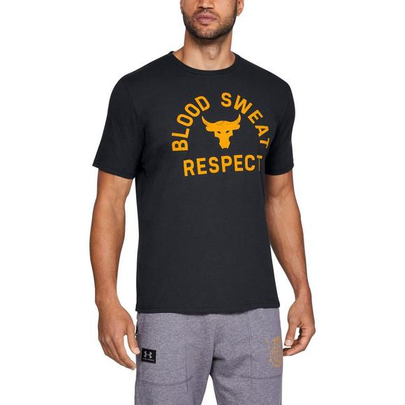 9a5faf15292c18 Under Armour Men s Project Rock Blood Sweat Respect Tee - Main Container  Image 1