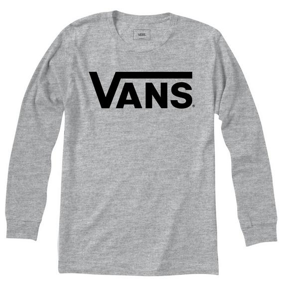 62f07c333a5d Vans Men s Classic Logo Long Sleeve T-Shirt - Main Container Image 1