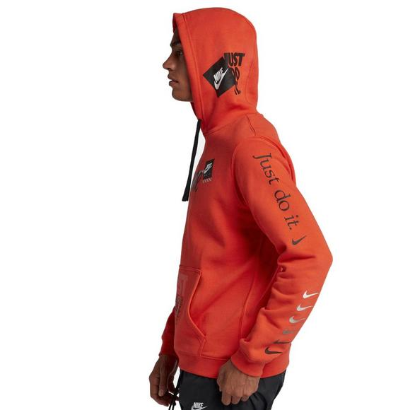 new product d30d2 9ea95 Nike Sportswear Men s Just Do It Pullover Hoodie - Orange - Main Container  Image 2