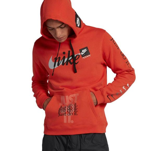 Nike Sportswear Men s Just Do It Pullover Hoodie - Orange - Main Container  Image 1 40c0ad9b2bff