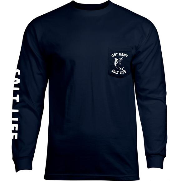 1bcb8ab3 Salt Life Men's Get Bent Ale Long Sleeve T-Shirt - Main Container Image 1
