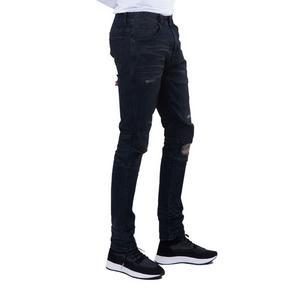 16bf559940c Smoke Rise Men s Biker Rip Off Jeans