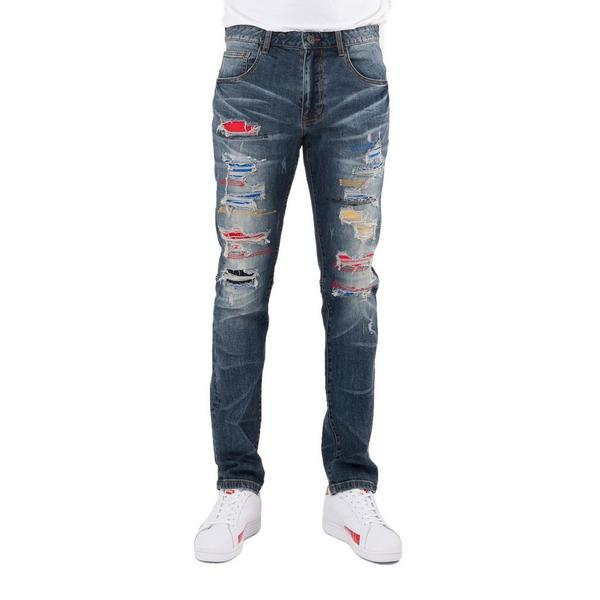 4646e56a2be1 Display product reviews for Smoke Rise Men's Rip Off Color Stitch Jeans