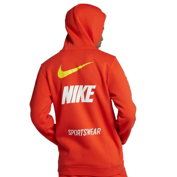 b10a14111186 Nike Sportswear Men s Club Orange Pullover Hoodie - Main Container Image 2