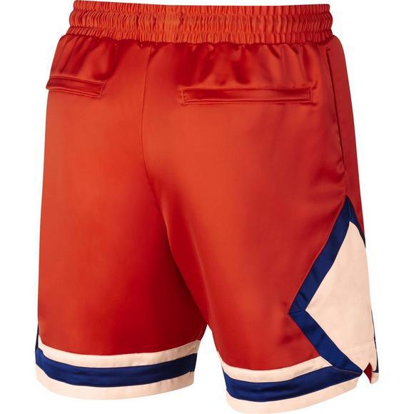 c7d25c3bf043d4 Jordan Men s Satin Diamond Shorts - Orange Royal - Main Container Image 9