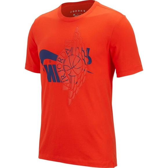10b7697a Nike Men's Futura Wings Orange Tee - Main Container Image 1