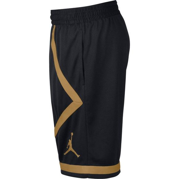 6a61798ec47 Jordan Men's Dri-FIT Taped Basketball Shorts - Black/Gold - Main Container  Image