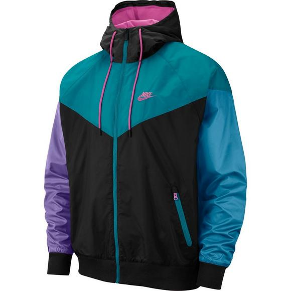 e8cc5849a Nike Sportswear Men's Windrunner Jacket - Black/Teal - Main Container Image  1