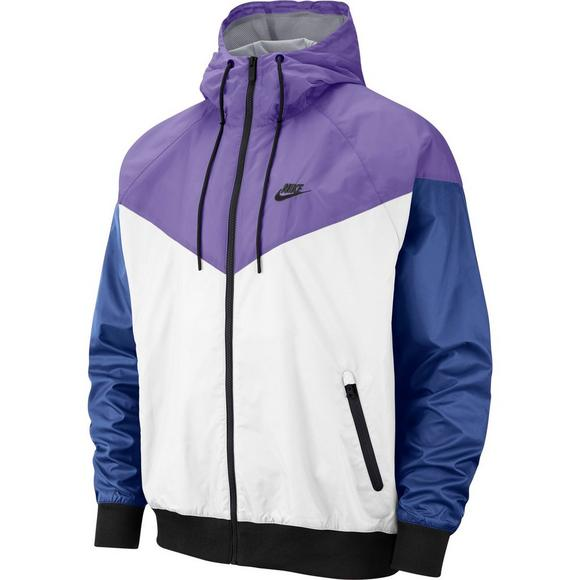 cf8fc624 Nike Sportswear Men's Windrunner Jacket - White/Purple/Black - Main  Container Image 1