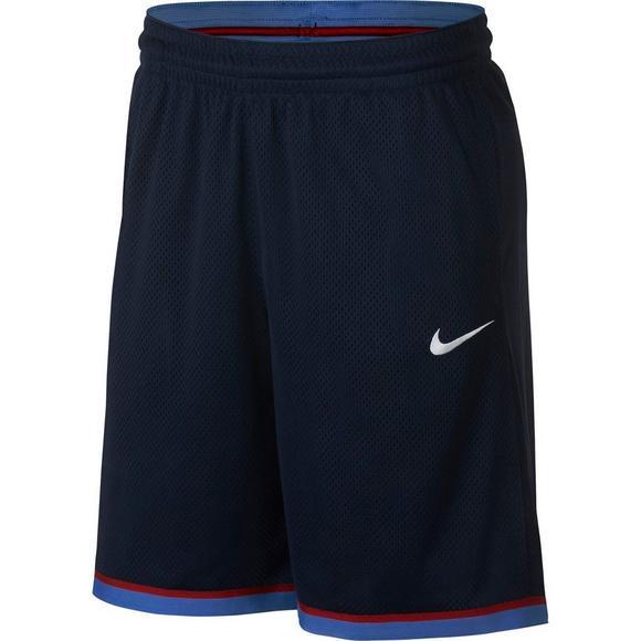6687f0c5a2df08 Nike Men's Dri-FIT Classic Basketball Shorts - Navy/Light Blue - Hibbett US