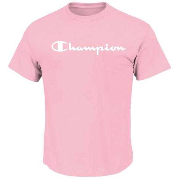 e6087a74 Champion Men's Short Sleeve Graphic Tee - Pink - Main Container Image 1