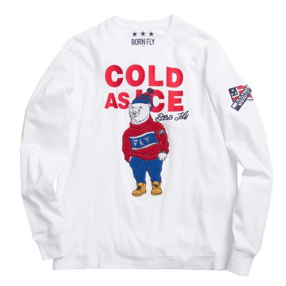 Born Fly Men S Polar Bear Cold As Ice Tee Hibbett Us