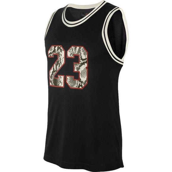 quality design eb8e0 a1149 Jordan Men's Legacy AJ11 Snakeskin-Print Basketball Jersey
