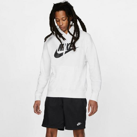 Nike Men's Club Futura White Hoodie