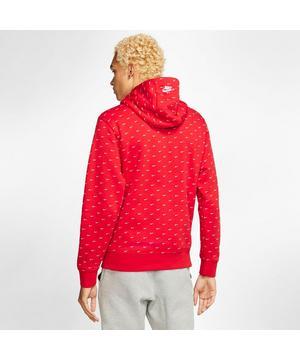 Nike Men's Swoosh Hoodie RedWhite