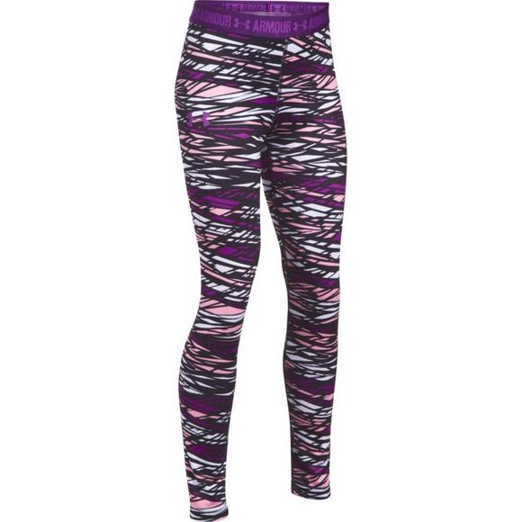 21a06f79c00a18 Under Armour Girls' HeatGear Armour Printed Legging - Main Container Image 1