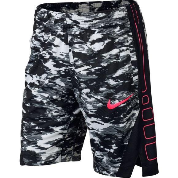 Nike Girls' Dry Elite Stripe Basketball Shorts Hibbett