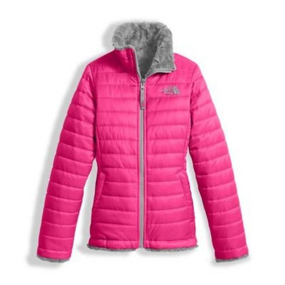 1184d2fbf The North Face Girls' Reversible Mossbud Swirl Jacket - Hibbett US