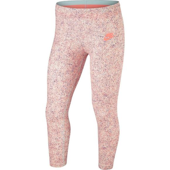 38b8a6e03d12f Nike Girls' Sportswear Printed Crop Leggings - Main Container Image 1