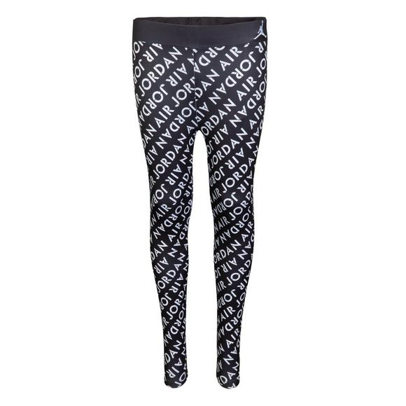 7f7a8ed5ee7 Jordan Girls' Jasmine AOP Leggings - Black/White - Main Container Image 1