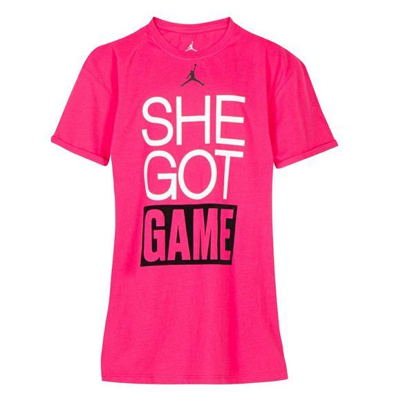 683b59dc16b5d7 Jordan Girls  She Got Game T-Shirt - Main Container Image 1