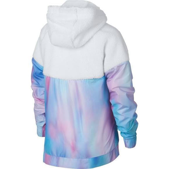 fecfe7880b Nike Sportswear Girls  Sherpa Unicorn Windrunner Hooded Jacket - Main  Container Image 2