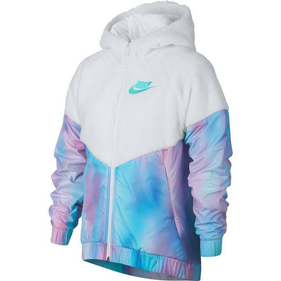 a98afb4afa Nike Sportswear Girls  Sherpa Unicorn Windrunner Hooded Jacket - Main  Container Image 1