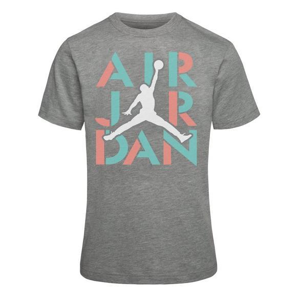 b47b9ece7bbb17 Jordan Girls  AJ5 Stack Short Sleeve T-Shirt - Main Container Image 1