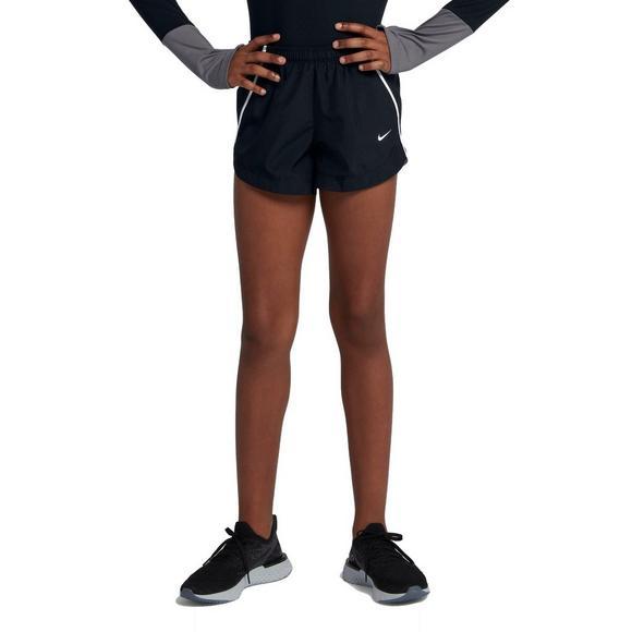 6c69c451fb084 Nike Girls  Dry Running Shorts - Black White - Main Container Image 1
