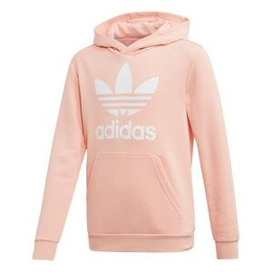 adidas Originals three stripe hoodie in orange