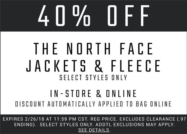 Coupons deals and promotions shop the north face fandeluxe Images