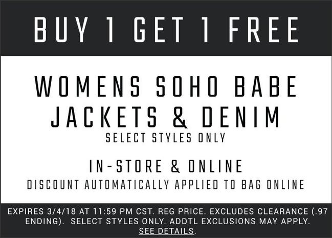 Coupons deals and promotions shop soho babe fandeluxe Images