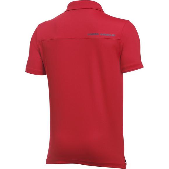 ba70ceee Under Armour Boys' Performance Golf Polo-Red - Main Container Image 2