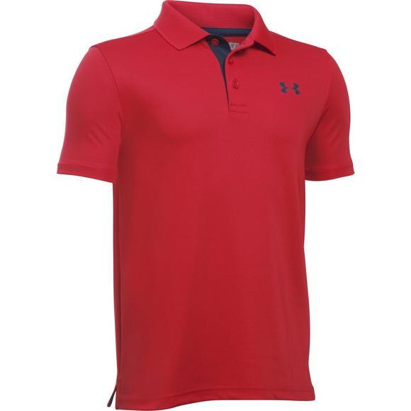 10e9fc16 Under Armour Boys' Performance Golf Polo-Red - Hibbett US